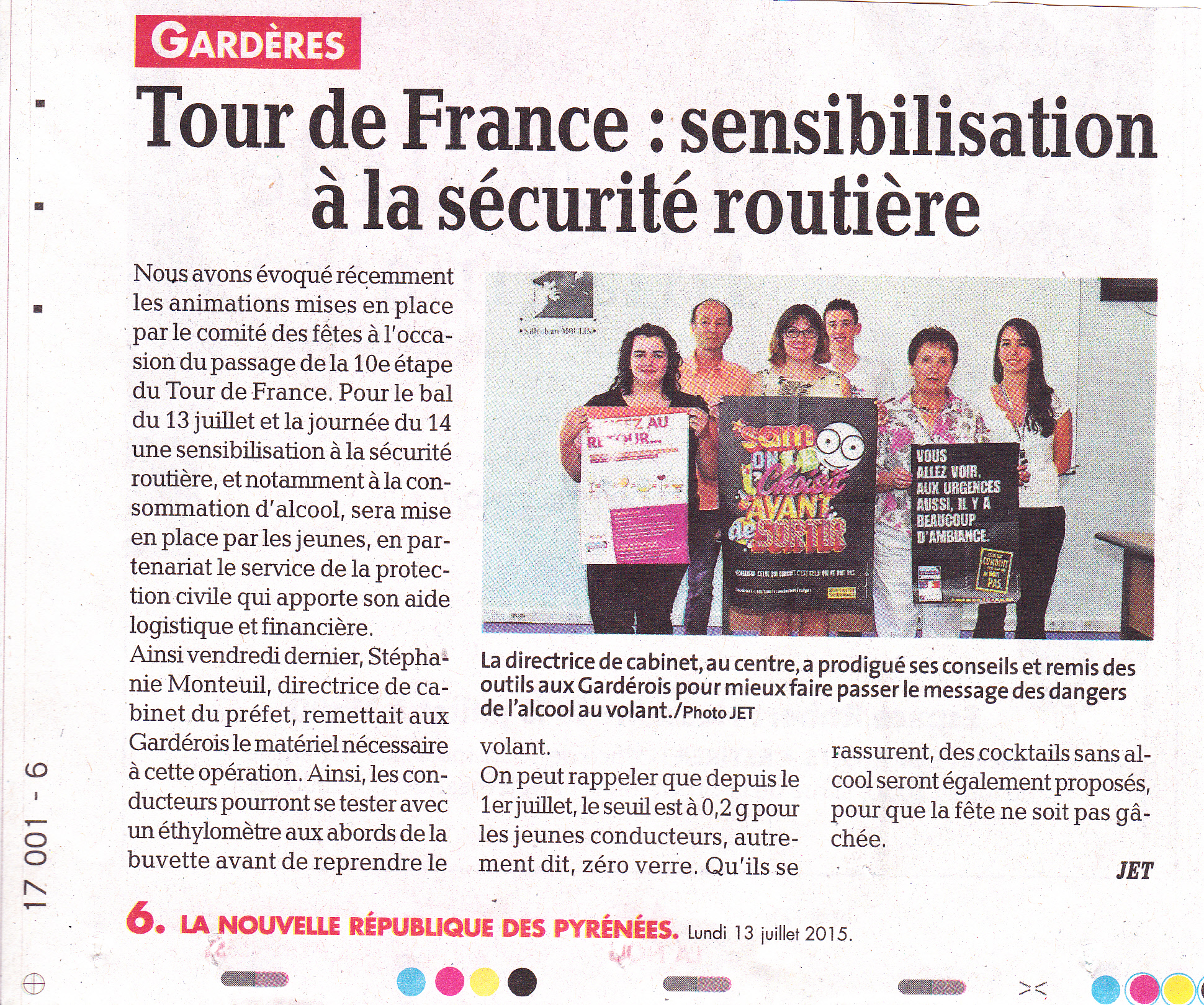 tour de france article  presse prefecture